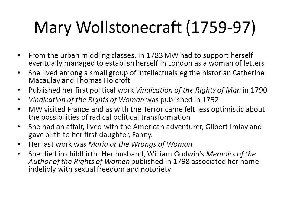 Mary Wollstonecraft (1759-97)