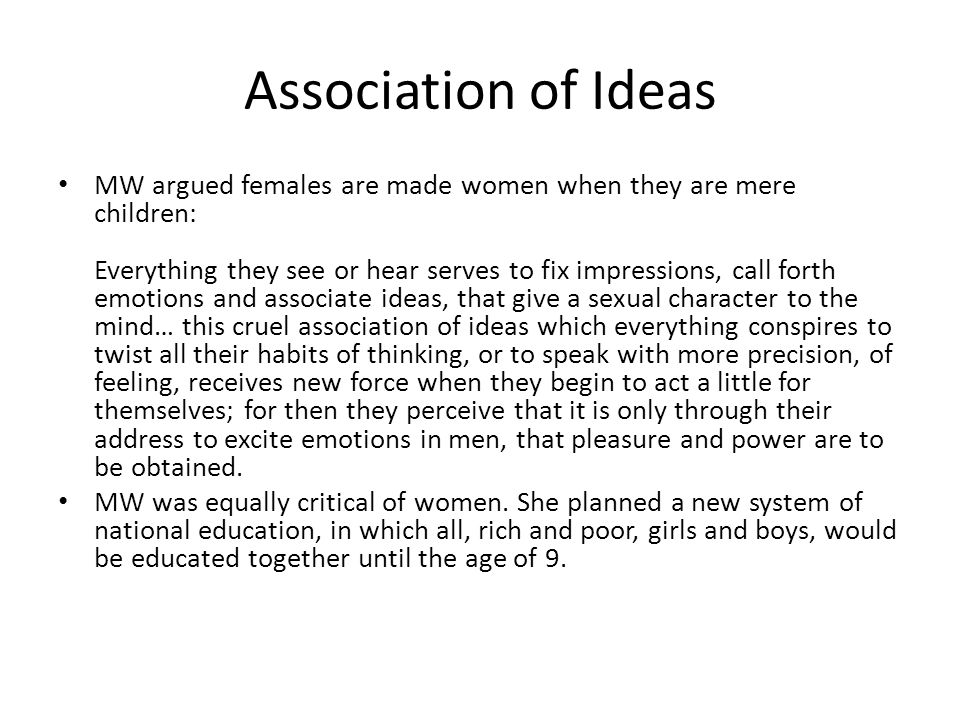Association of Ideas