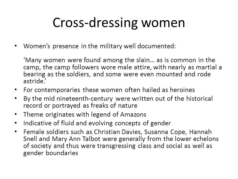 Cross-dressing women