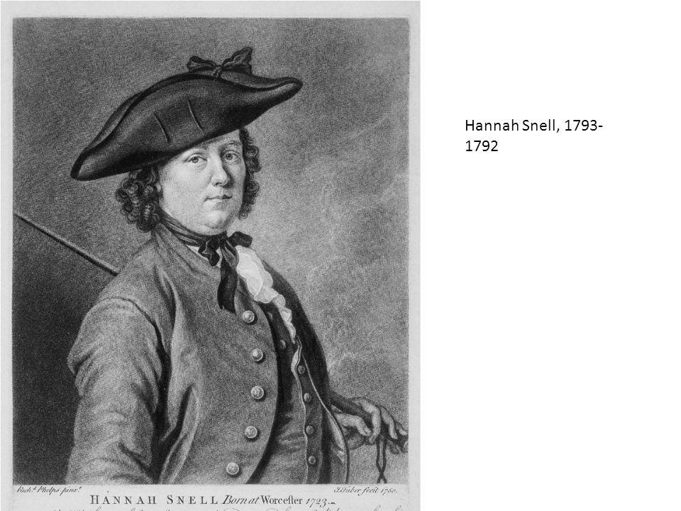 Hannah Snell, 1793-1792
