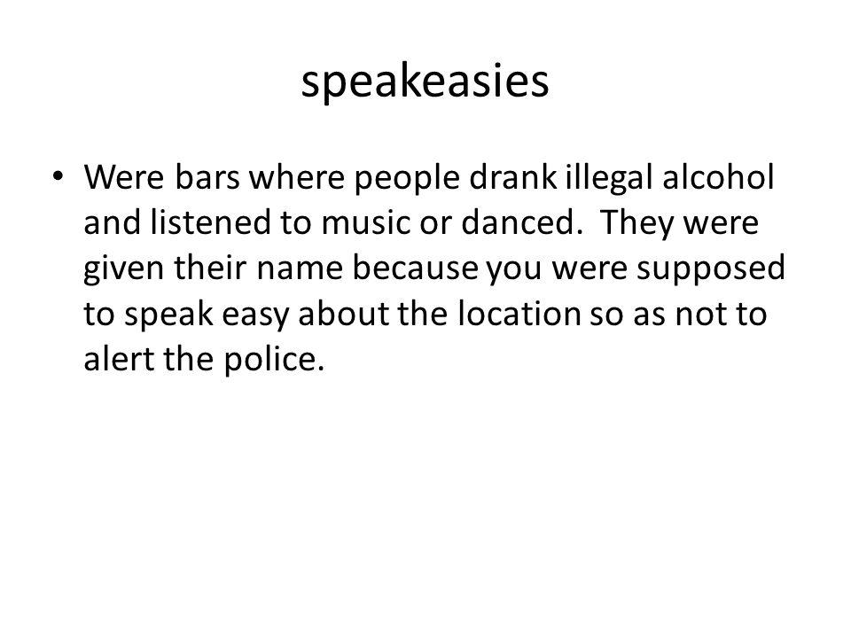speakeasies