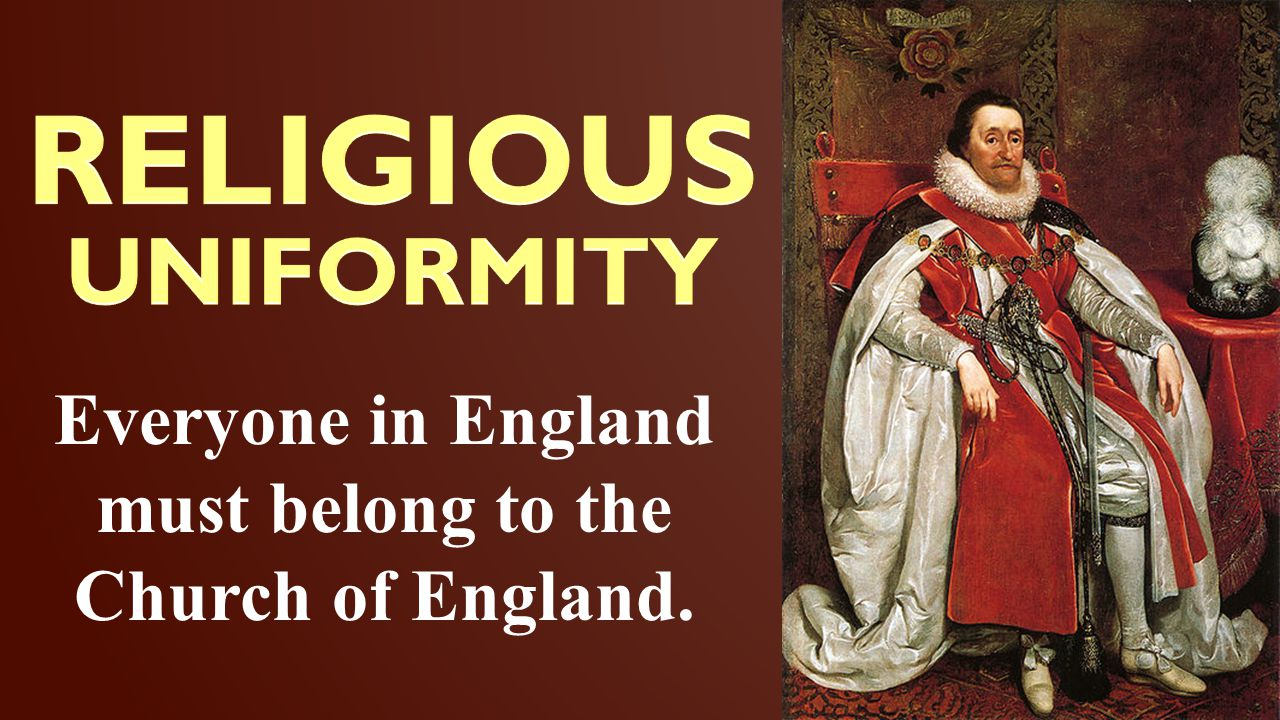 Everyone in England must belong to the Church of England.