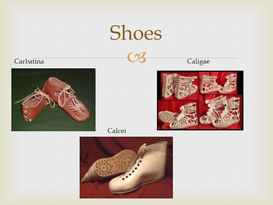 Shoes Carbatina Caligae Calcei