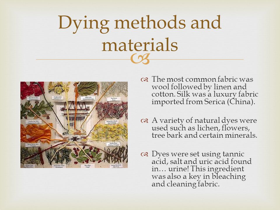 Dying methods and materials