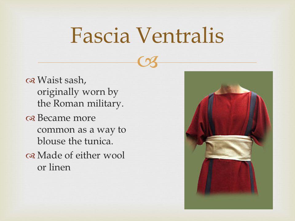 Fascia Ventralis Waist sash, originally worn by the Roman military.