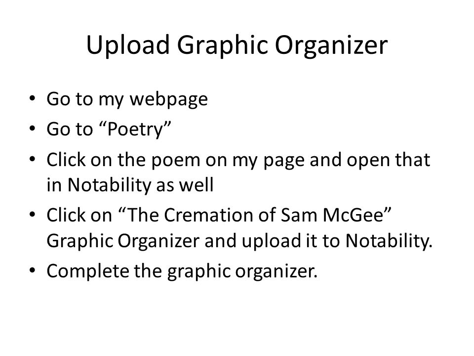 Upload Graphic Organizer