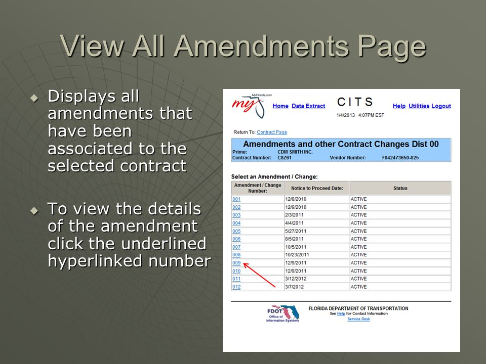 View All Amendments Page