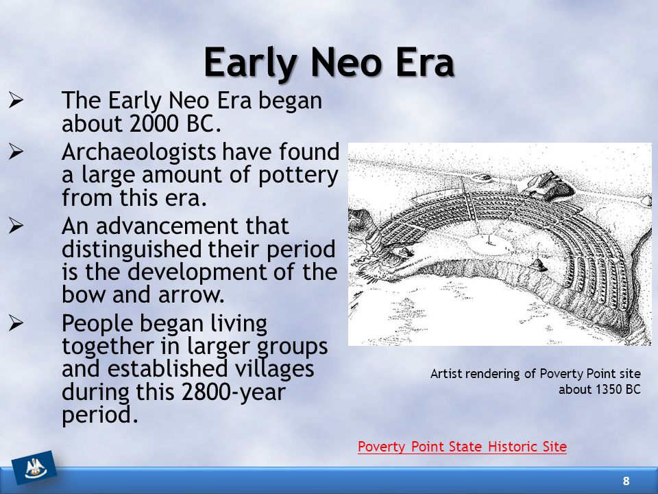 Early Neo Era The Early Neo Era began about 2000 BC.