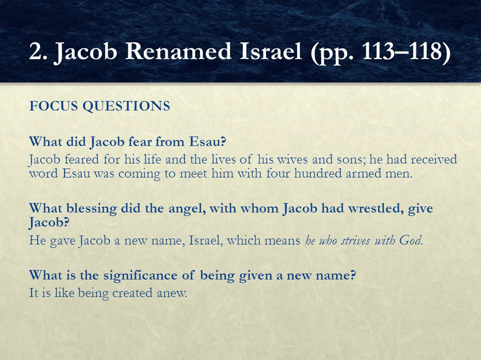 2. Jacob Renamed Israel (pp. 113–118)