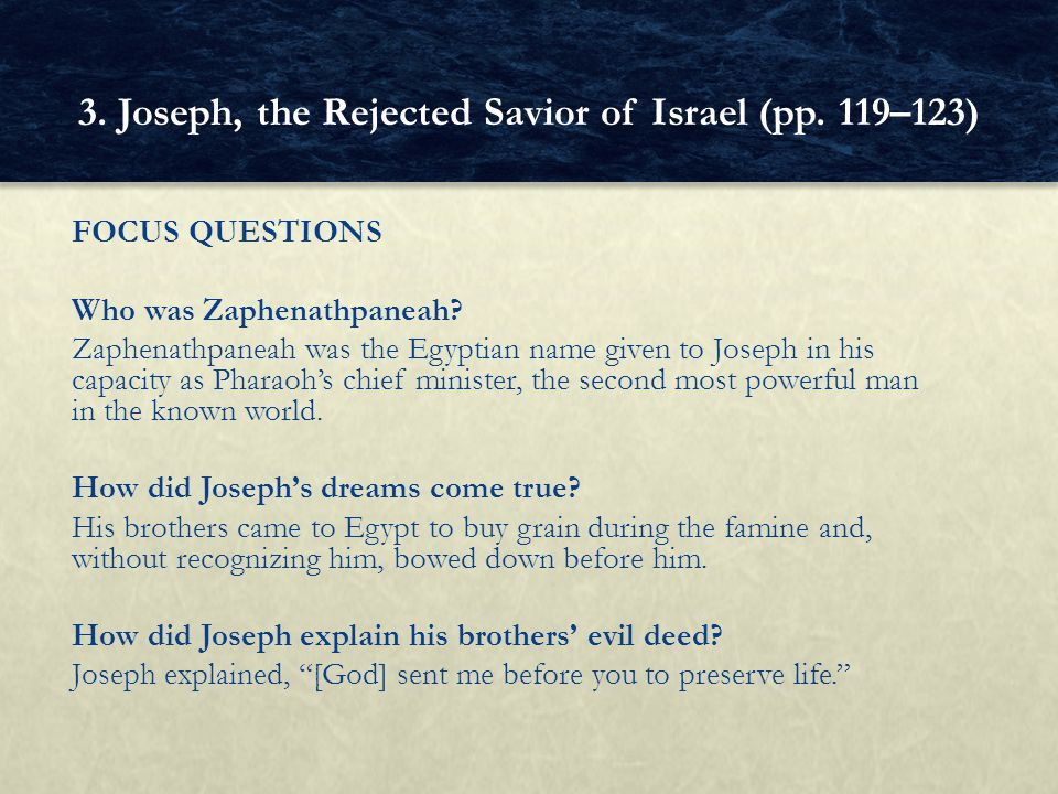 3. Joseph, the Rejected Savior of Israel (pp. 119–123)