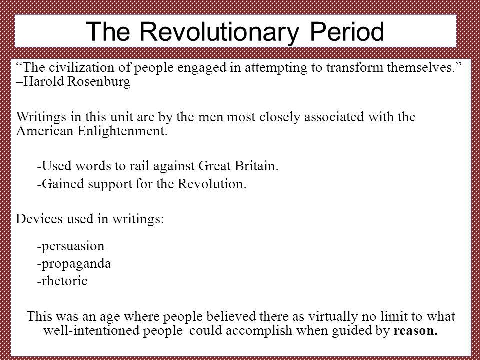 The Revolutionary Period