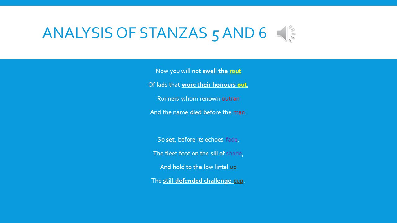 Analysis of Stanzas 5 and 6