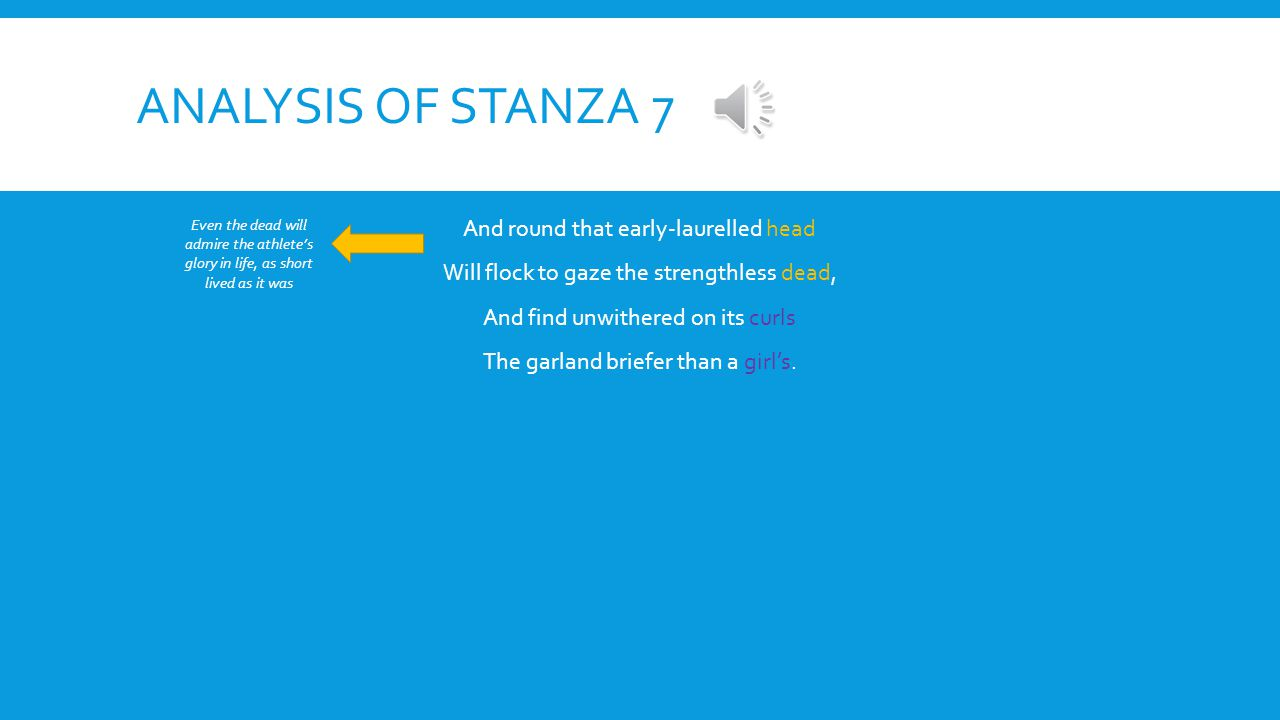 Analysis of stanza 7