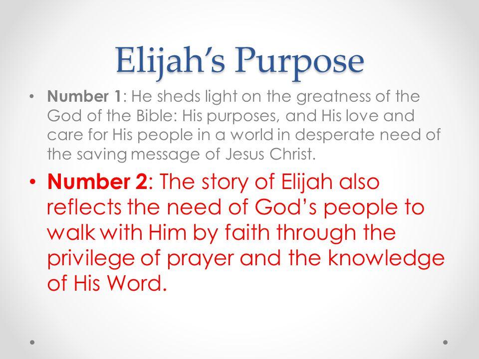 Elijah's Purpose