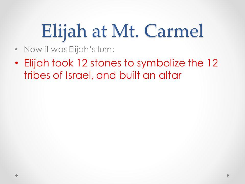 Elijah at Mt.
