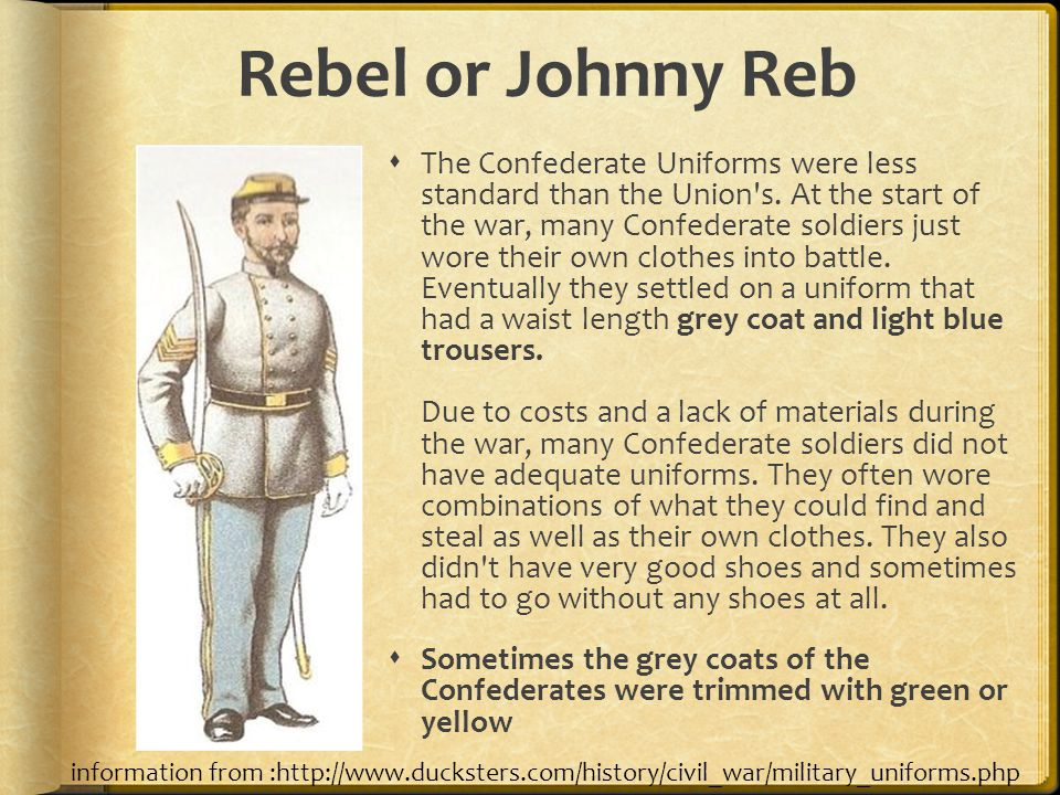 Rebel or Johnny Reb