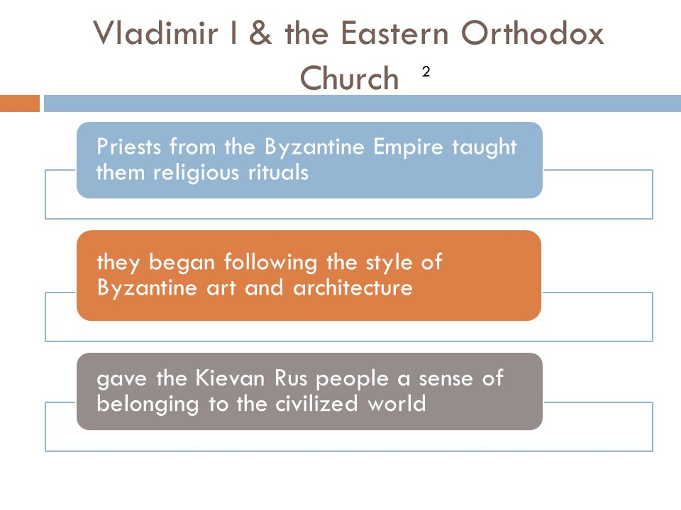 Vladimir I & the Eastern Orthodox Church