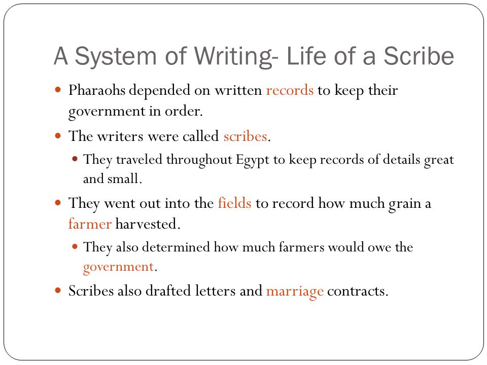 A System of Writing- Life of a Scribe