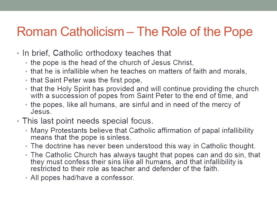 Roman Catholicism – The Role of the Pope
