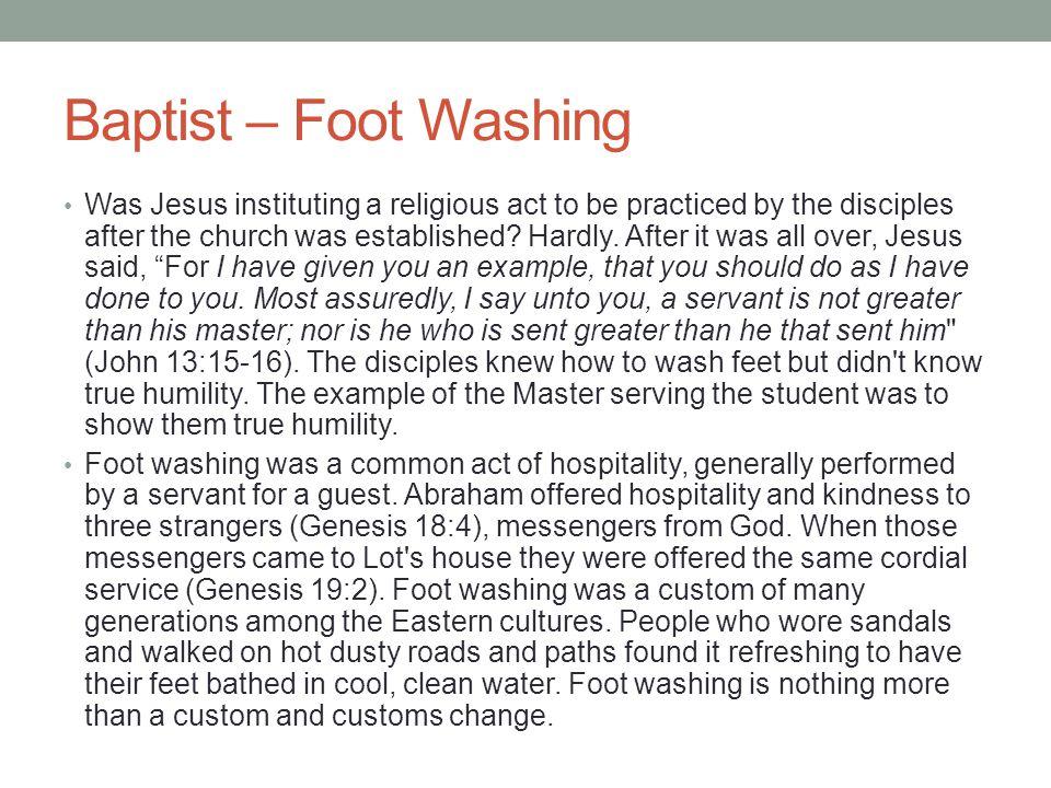 Baptist – Foot Washing