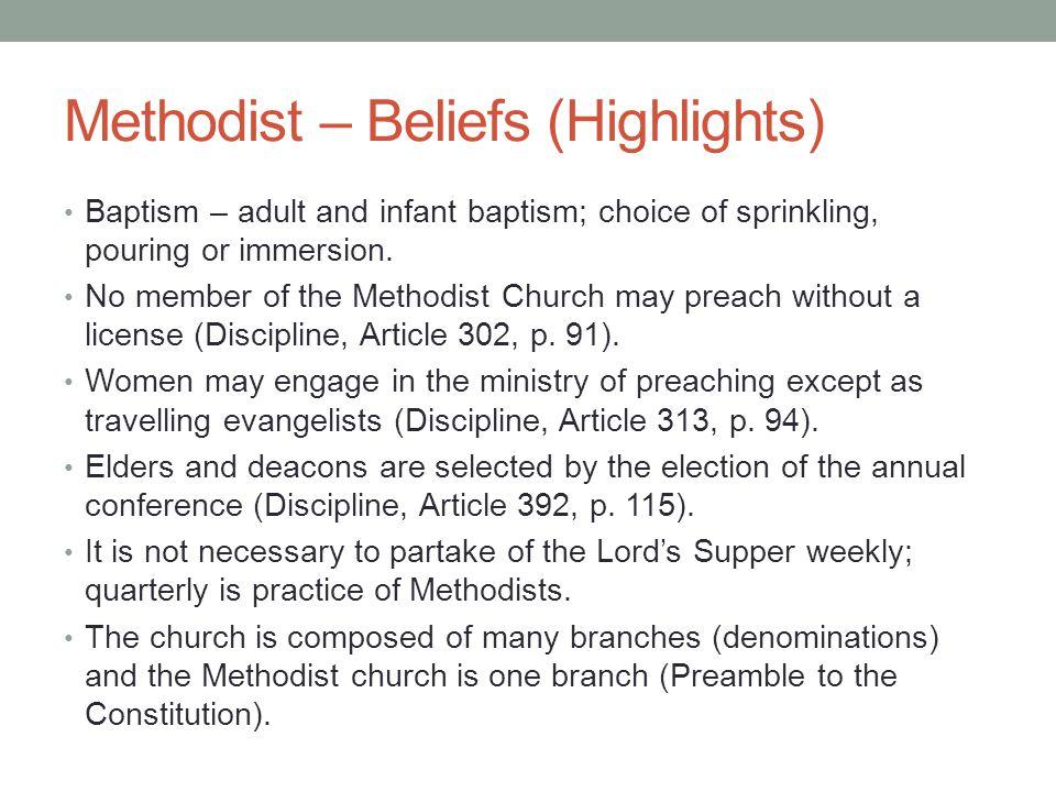 Methodist – Beliefs (Highlights)