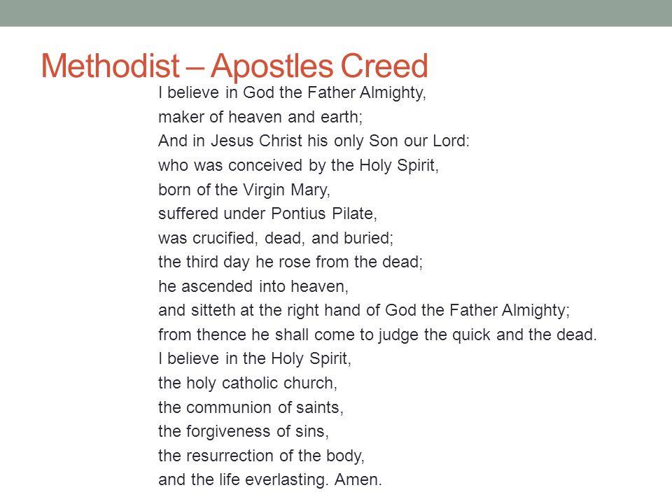 Methodist – Apostles Creed
