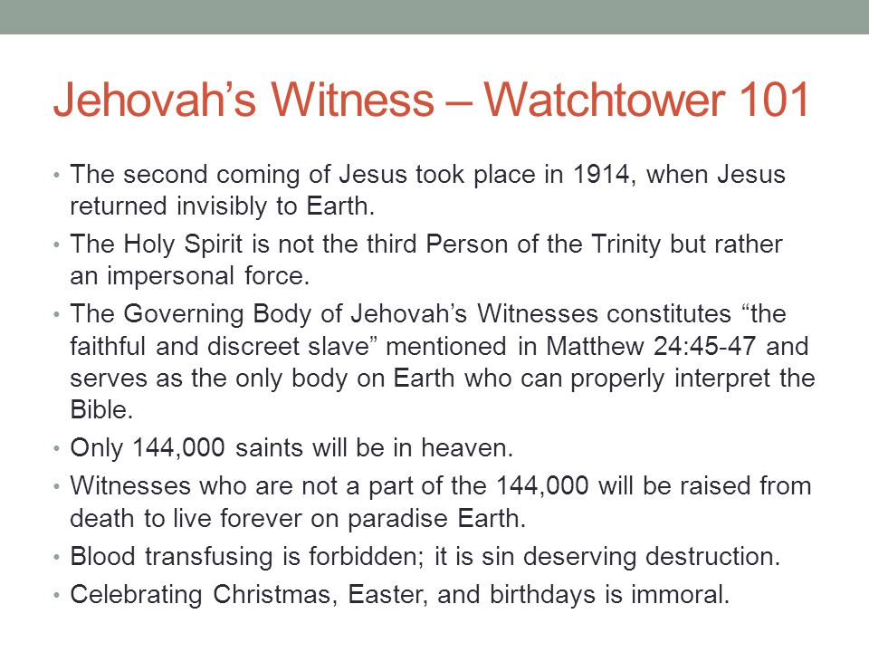 Jehovah's Witness – Watchtower 101