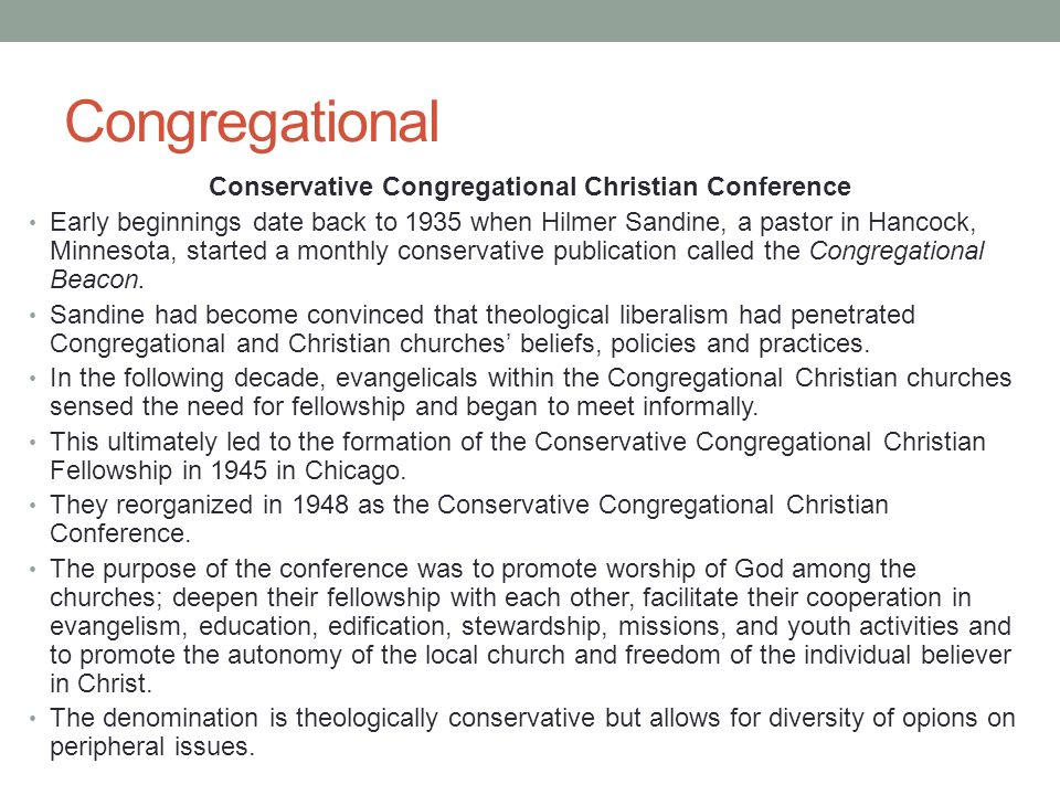 Conservative Congregational Christian Conference