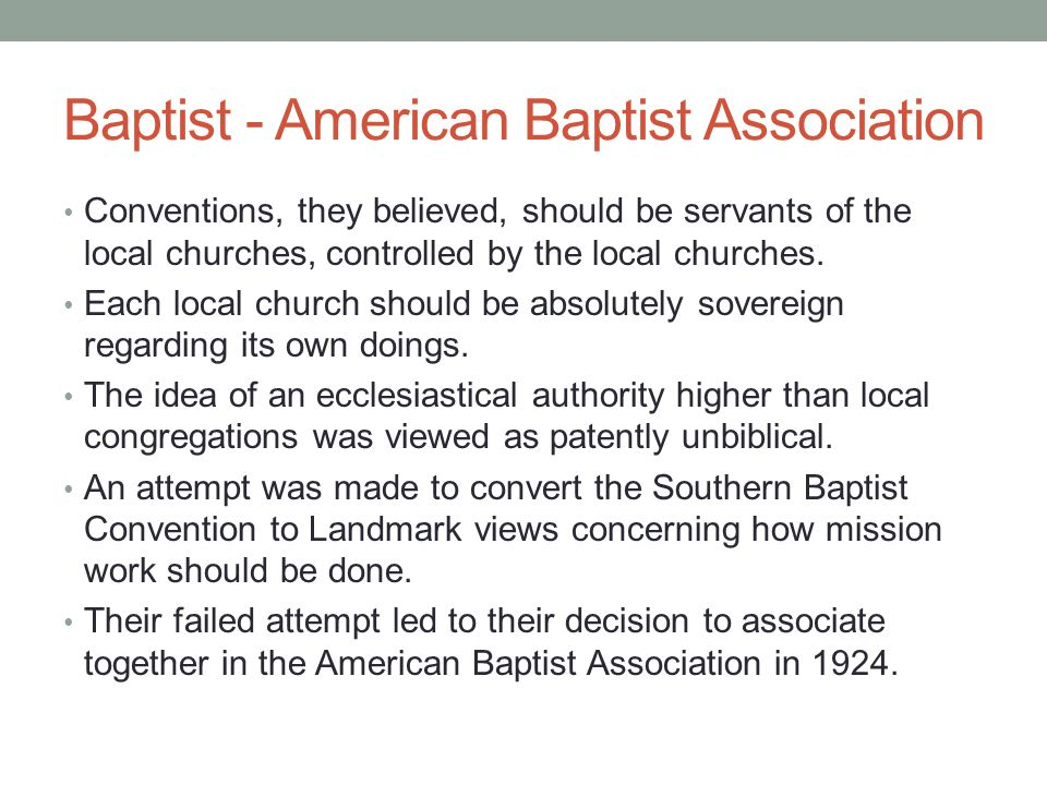 Baptist - American Baptist Association