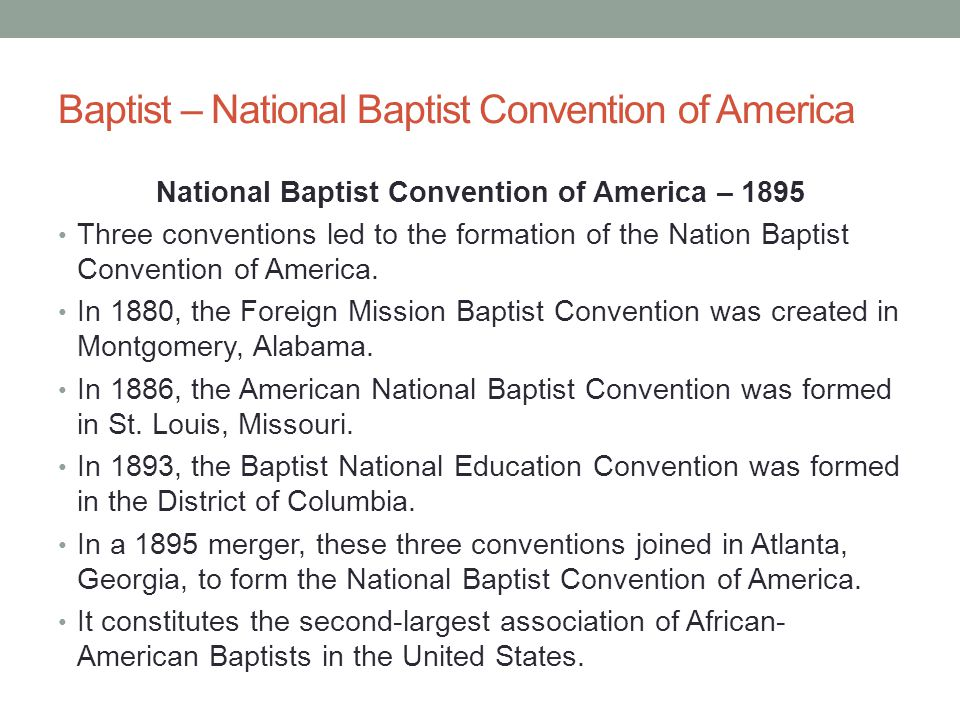 Baptist – National Baptist Convention of America