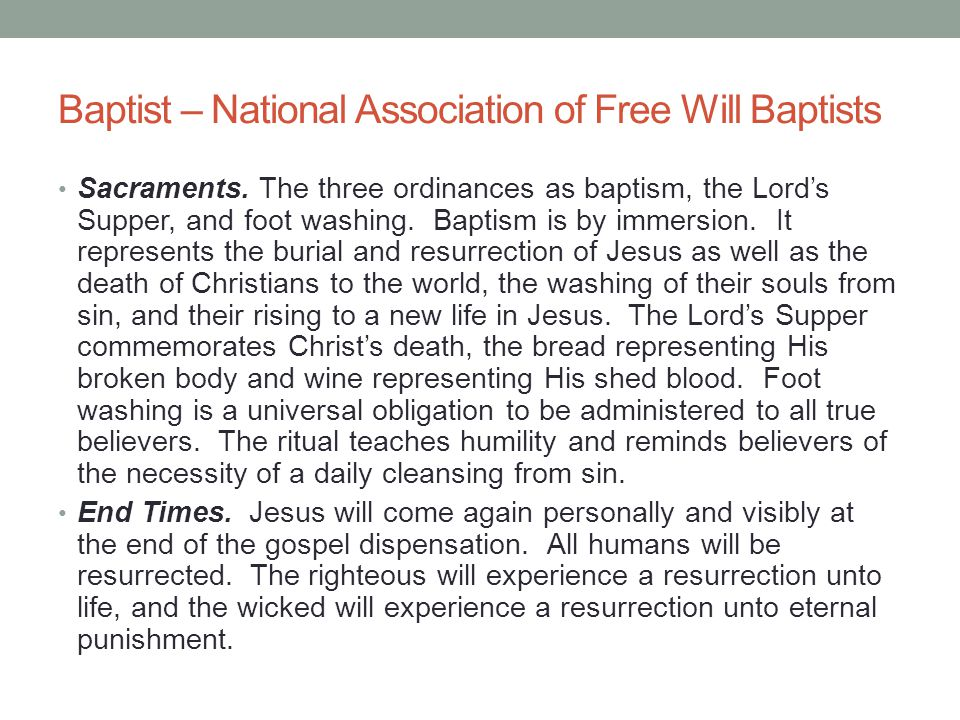 Baptist – National Association of Free Will Baptists