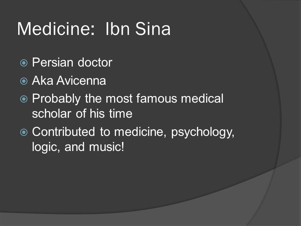 Medicine: Ibn Sina Persian doctor Aka Avicenna