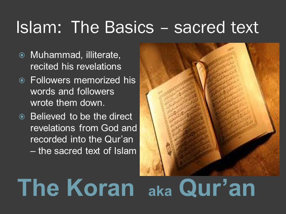 Islam: The Basics – sacred text