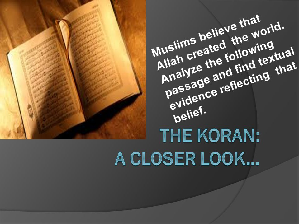 The Koran: A closer Look…