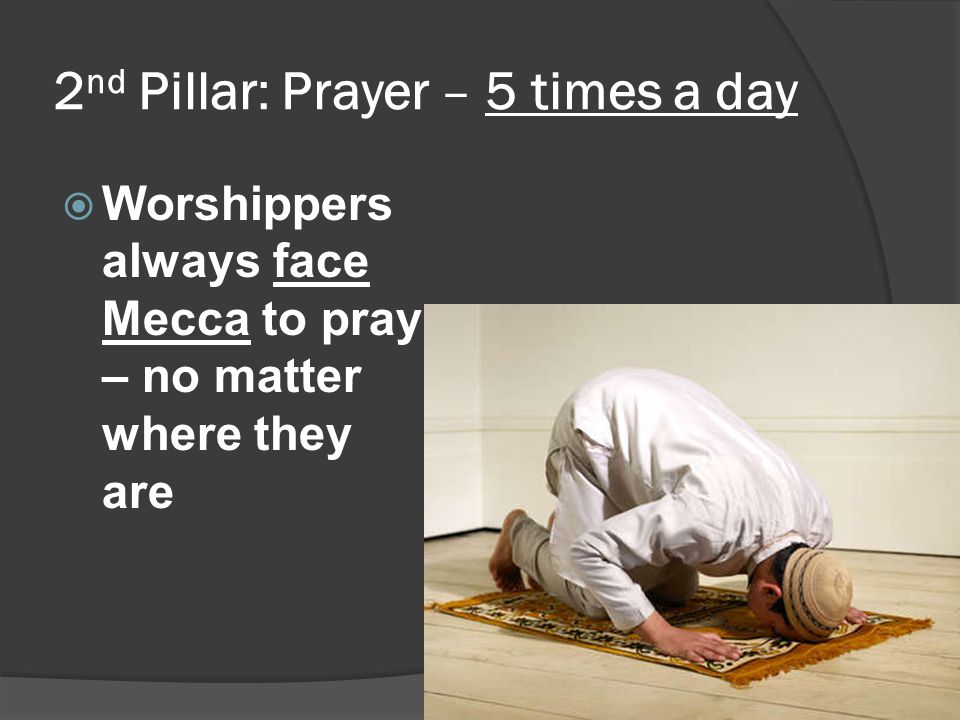 2nd Pillar: Prayer – 5 times a day