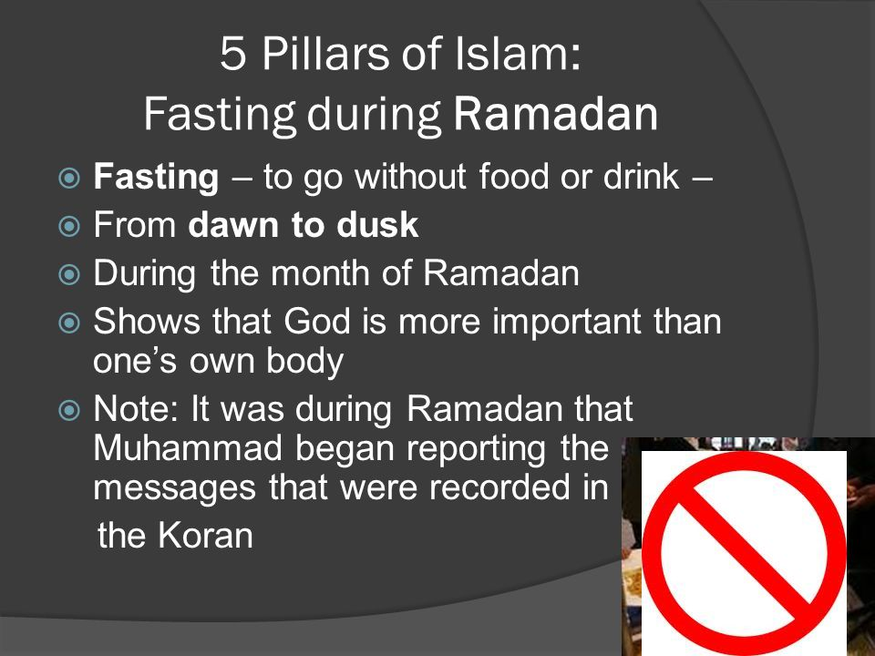 5 Pillars of Islam: Fasting during Ramadan