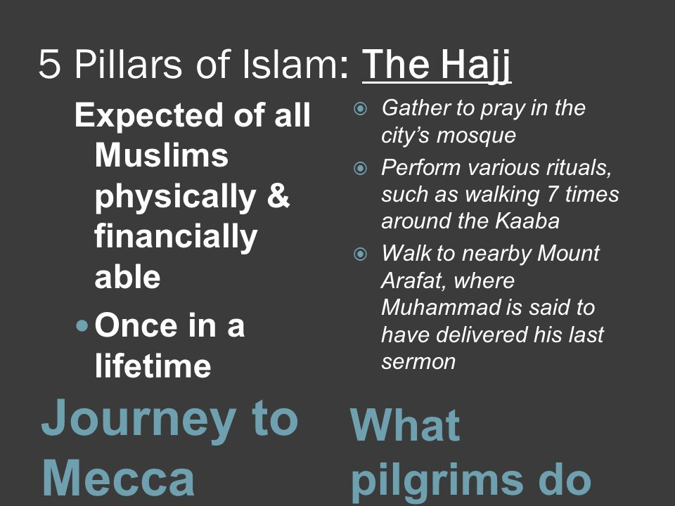5 Pillars of Islam: The Hajj