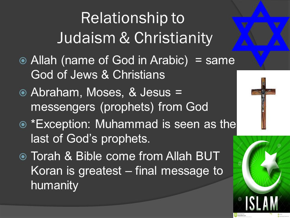 Relationship to Judaism & Christianity