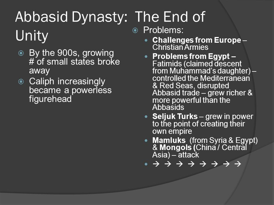 Abbasid Dynasty: The End of Unity