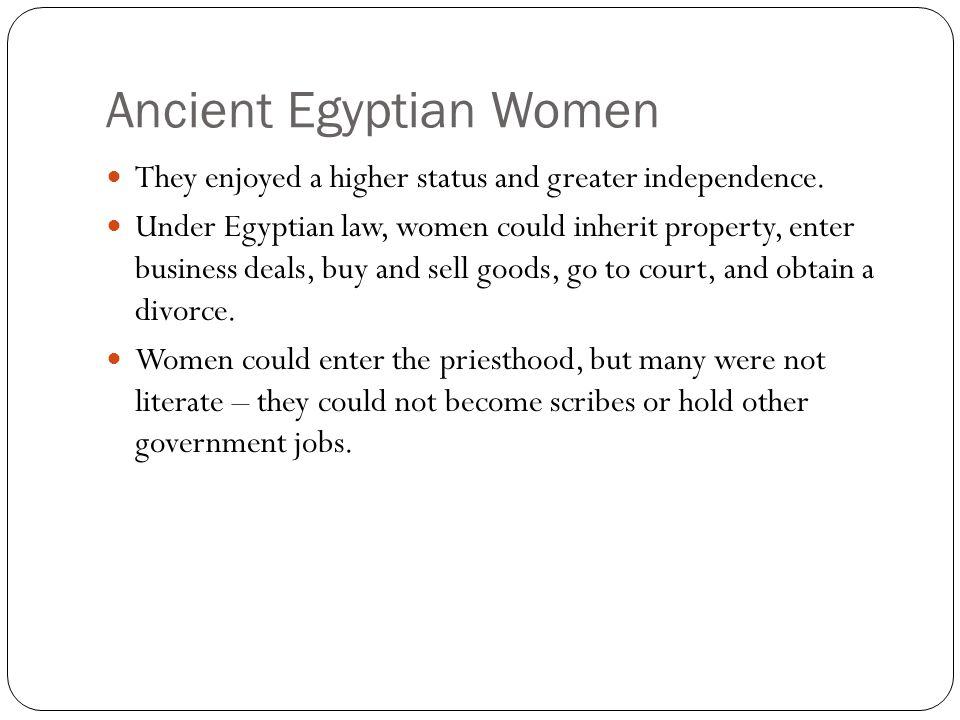Ancient Egyptian Women