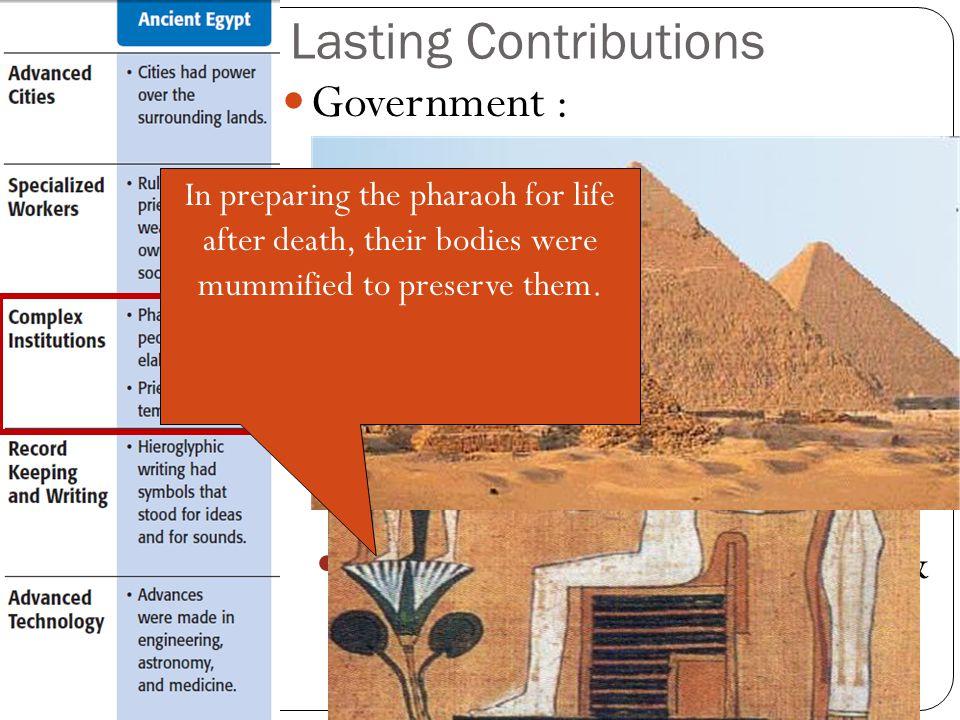 Lasting Contributions