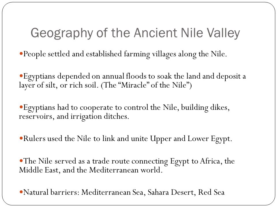 Geography of the Ancient Nile Valley