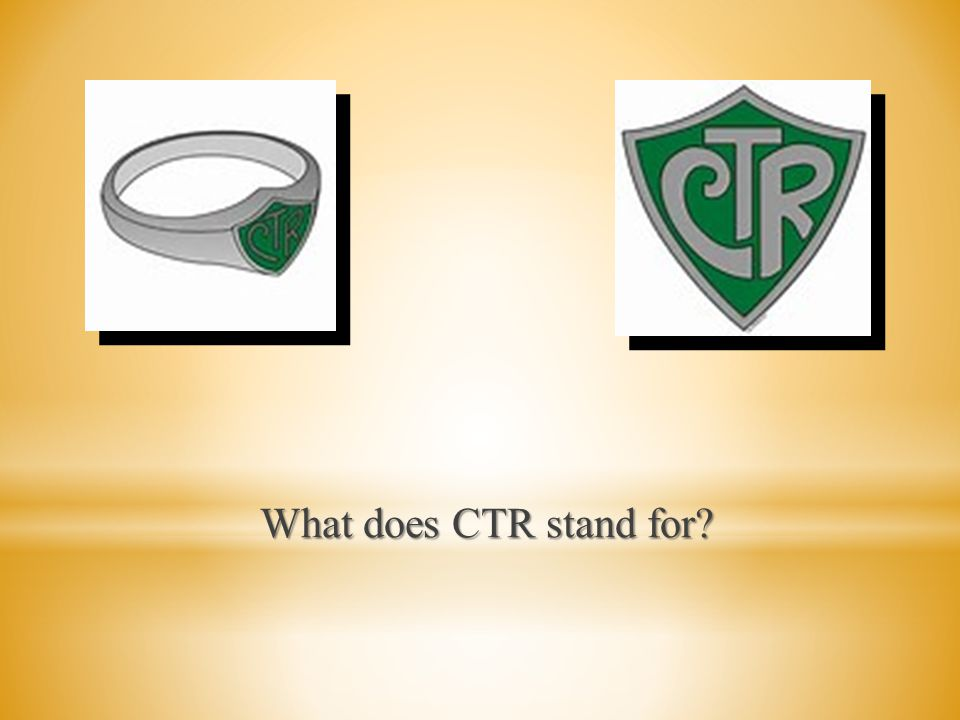What does CTR stand for