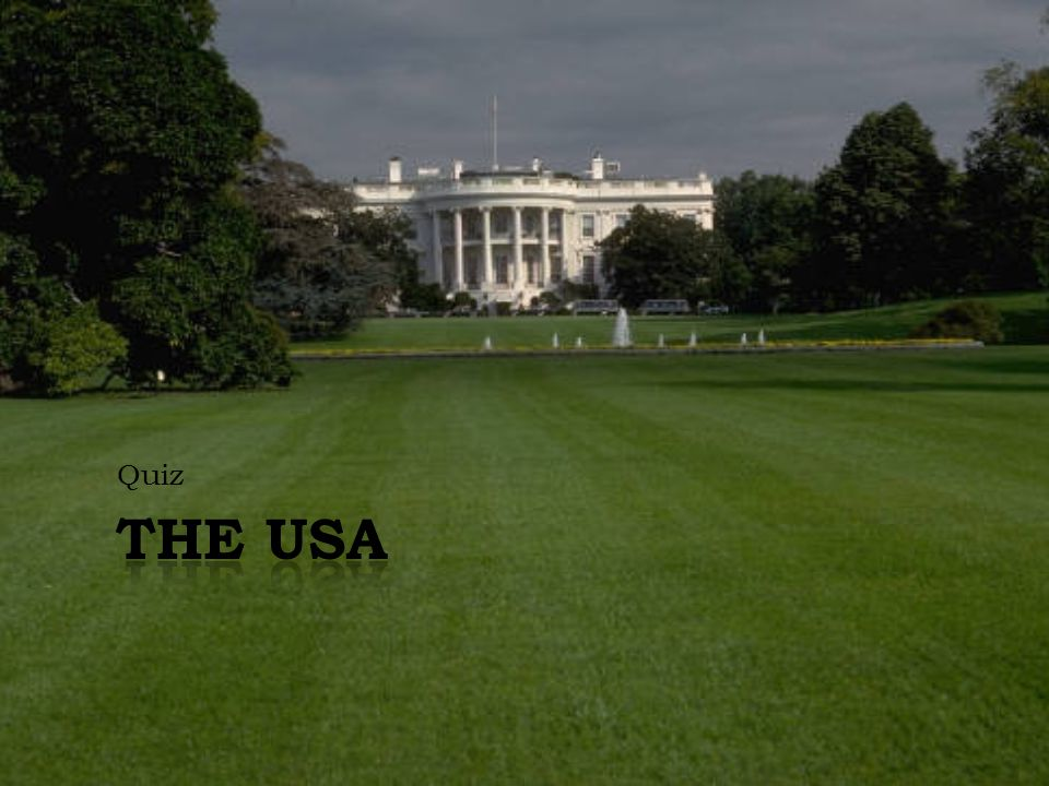Quiz The USA