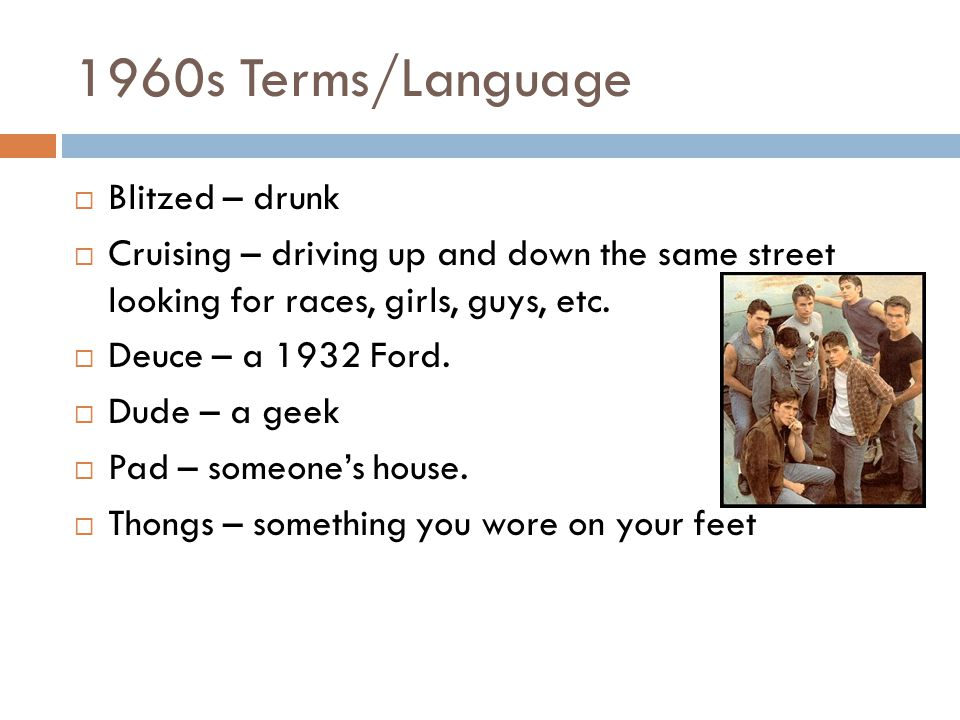 1960s Terms/Language Blitzed – drunk