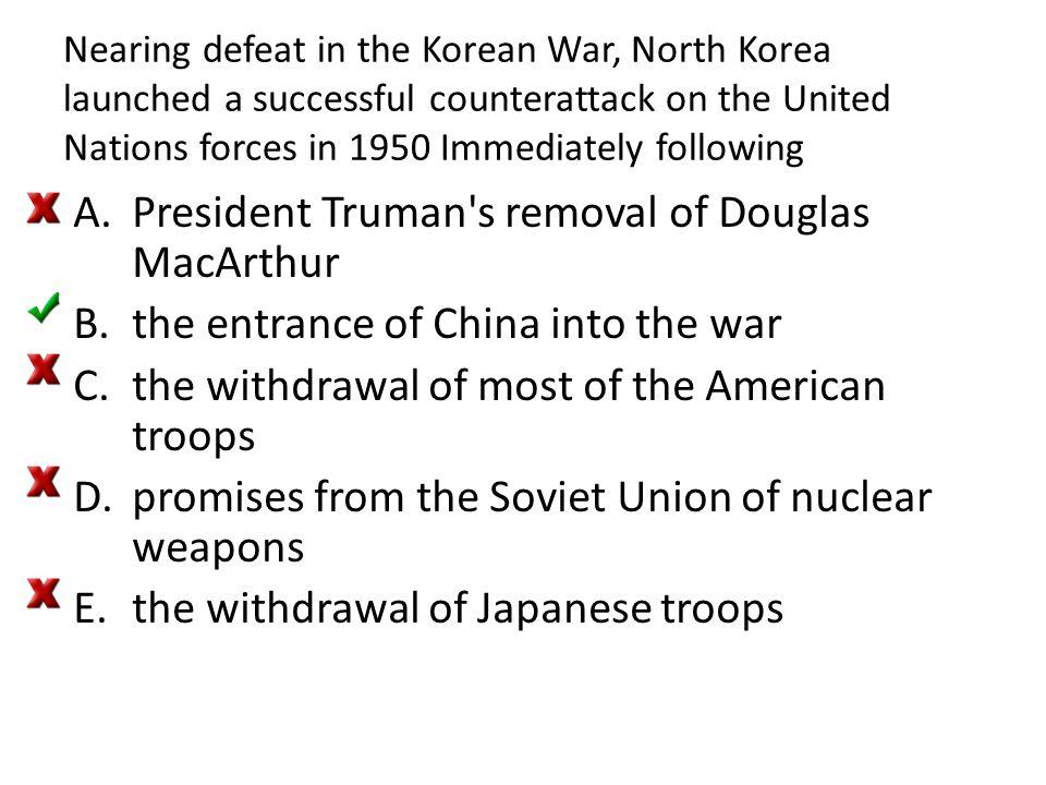 President Truman s removal of Douglas MacArthur