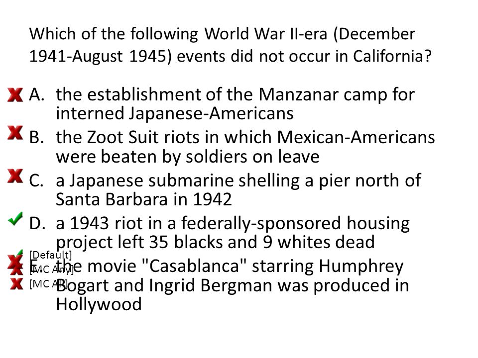 the establishment of the Manzanar camp for interned Japanese-Americans