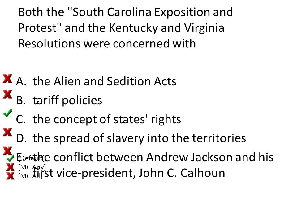 the Alien and Sedition Acts tariff policies