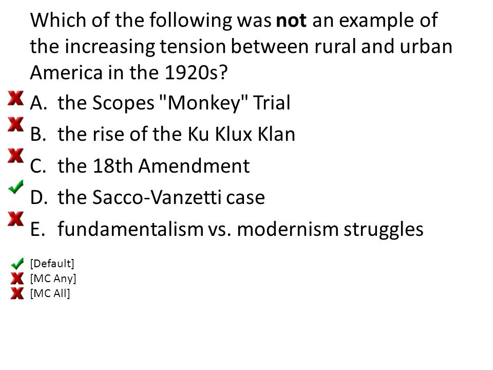 the Scopes Monkey Trial the rise of the Ku Klux Klan