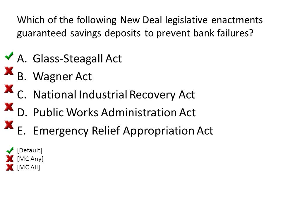 National Industrial Recovery Act Public Works Administration Act
